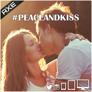 Axe. Peace and Kiss